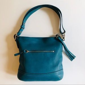 Vintage Coach Crossbody Bag in Blue